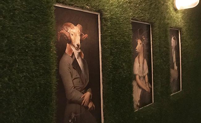 wall art at tapas restaurant