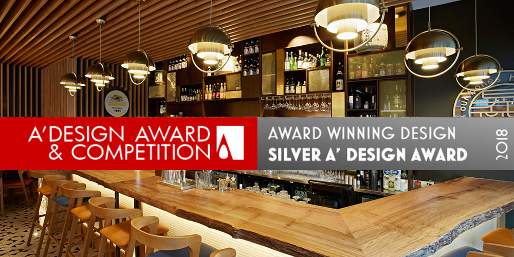 A' Design award recognise Blenheim Design as leading bar and restaurant designers, after detailed evaluation by an internationally influential jury panel of designers, architects and scholars.