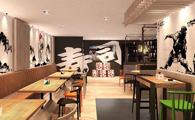 Sushi Yoshi restaurant design
