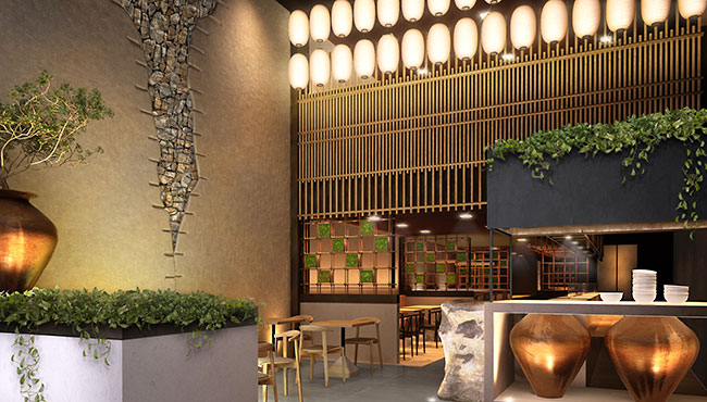 The best Japanese restaurant design Saudi Arabia by Blenheim Design