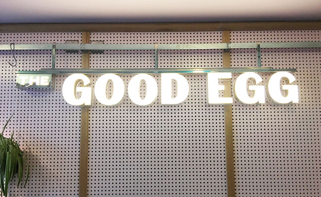 The Good Egg wall