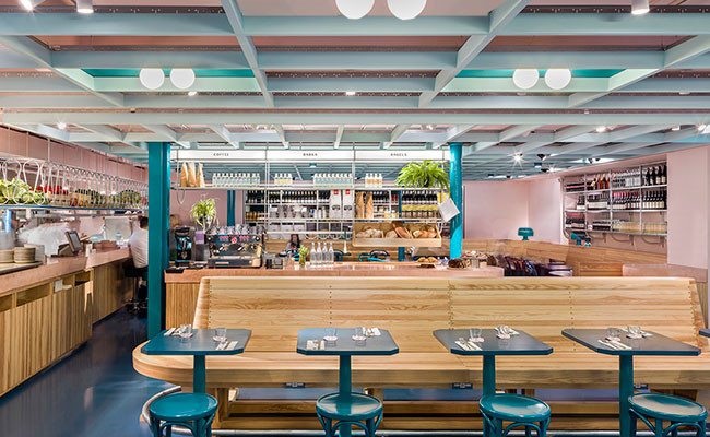 The Good Egg designers used gantry to create areas of interest