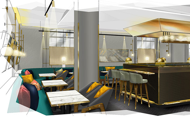 Da Terra bar design at Bethnal Green