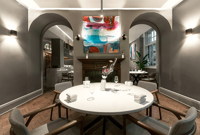 Blenheim Design was trusted to Michelin star restaurant project in Bethnal Green - Da Terra by Rafael Cagali
