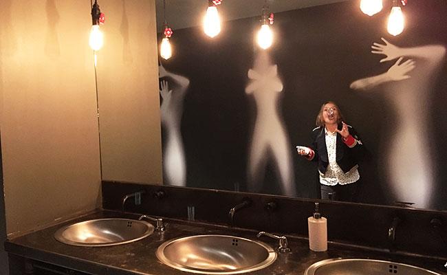 Mina Myall in San Francisco uber cool hotel